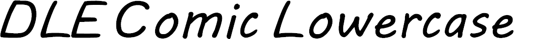 Preview image for DLE Comic Lowercase Font