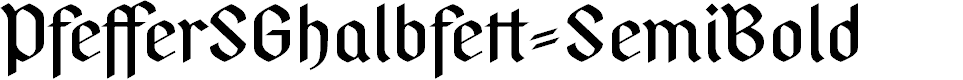 Preview image for PfefferSGhalbfett-SemiBold Font
