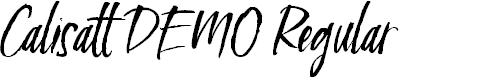 Preview image for Calisatt DEMO Regular Font