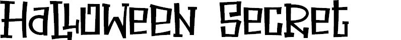 Preview image for Halloween Secret Font