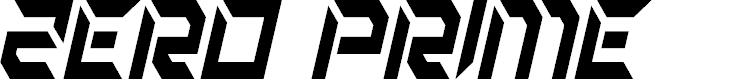 Preview image for Zero Prime Condensed Italic