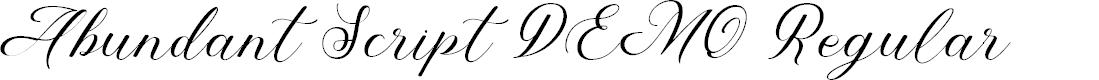 Preview image for Abundant Script DEMO Regular Font