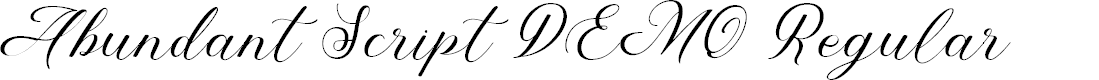 Preview image for Abundant Script DEMO Regular Font