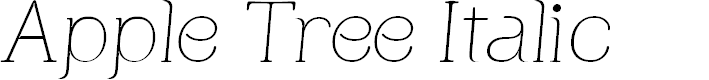 Preview image for Apple Tree Italic