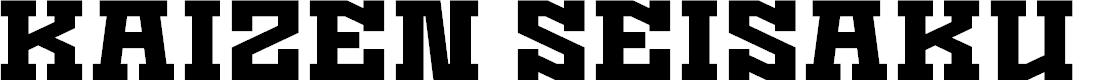 Preview image for Kaizen Seisaku Font