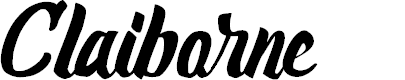 Preview image for Claiborne Font