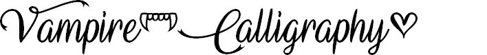 Preview image for Vampire Calligraphy Font
