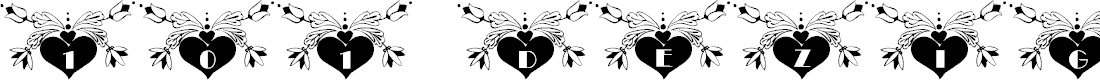 Preview image for 101! Dezigner HeartZ Font