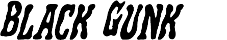 Preview image for Black Gunk Staggered Italic