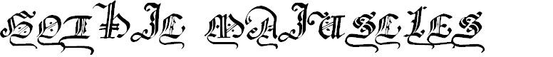 Preview image for GothicMajuscles Font
