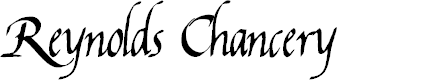 Preview image for Reynolds Chancery Font