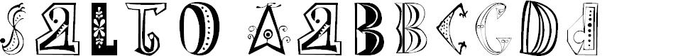 Preview image for SaltoOne Regular Font