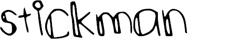 Preview image for stickman Font