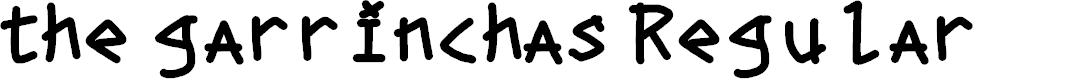 Preview image for the garrinchas Regular Font