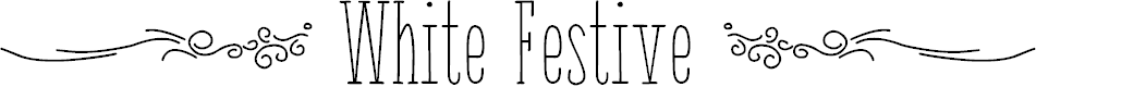 Preview image for { White Festive } Font