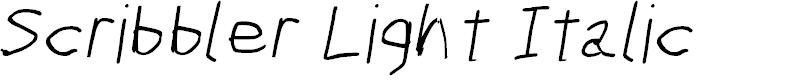 Preview image for Scribbler Light Italic