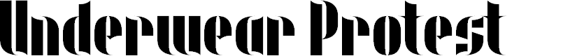 Preview image for Underwear Protest Font