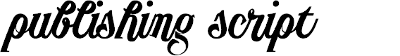 Preview image for PublishingScriptDEMOversion Font