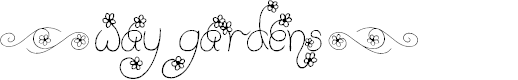 Preview image for (Way Gardens) Font