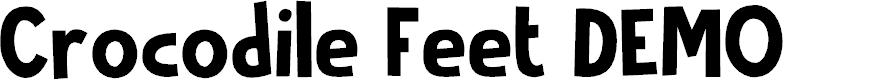Preview image for Crocodile Feet DEMO Regular Font