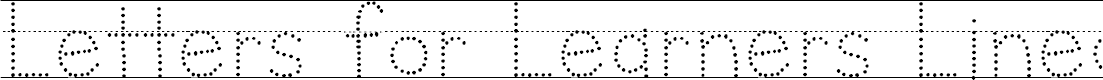 Preview image for Letters for Learners Lined Dots