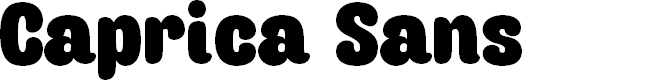Preview image for Caprica Sans Personal Use Font
