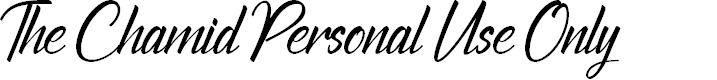 Preview image for The Chamid Personal Use Only Font
