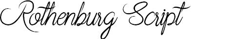 Preview image for Rothenburg Script Font