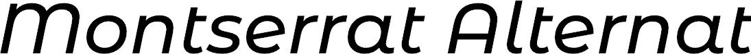 Preview image for Montserrat Alternates Medium Italic