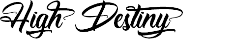 Preview image for High Destiny - Personal Use Font