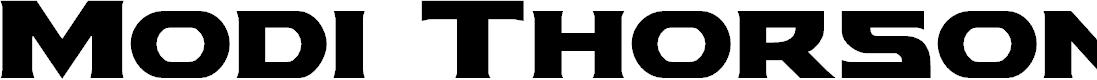Preview image for Modi Thorson Font