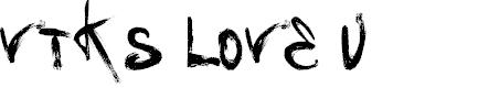 Preview image for Vtks Love U Font