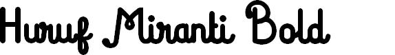 Preview image for Huruf Miranti Bold