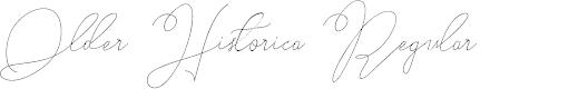 Preview image for Older Historica Regular Font