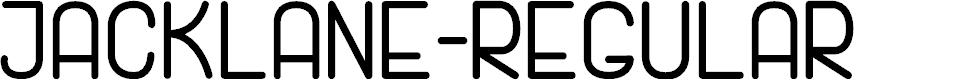 Preview image for JackLane-Regular Font
