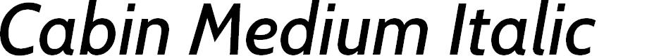 Preview image for Cabin Medium Italic