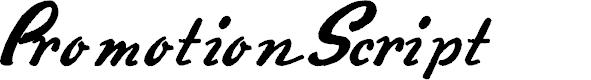 Preview image for PromotionScript Font