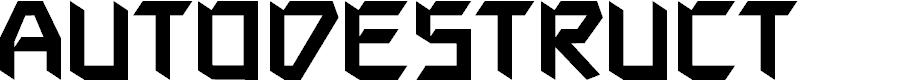 Preview image for AutodestructBB Font