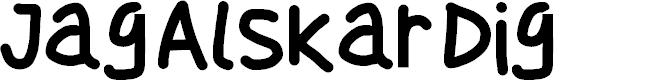 Preview image for Jag Alskar Dig Font
