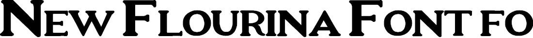 Preview image for New Flourina Font for 2014 Font