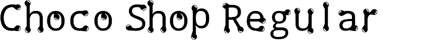 Preview image for Choco Shop Regular Font