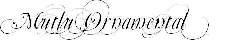Preview image for Mutlu  Ornamental Font
