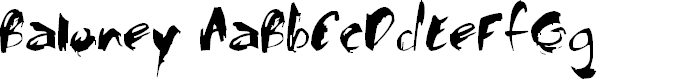Preview image for Baloney Font