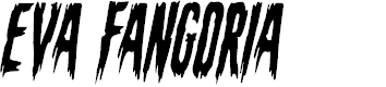 Preview image for Eva Fangoria Condensed Italic