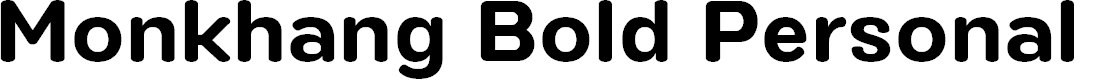 Preview image for Monkhang Bold Personal Use Font