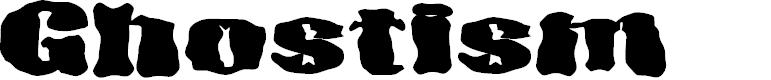 Preview image for D3 Ghostism-Regular Font
