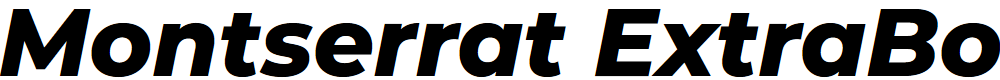 Preview image for Montserrat ExtraBold Italic