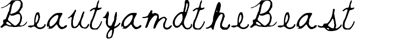 Preview image for BeautyandtheBeast Font