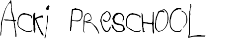 Preview image for Acki Preschool Font