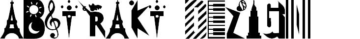 Preview image for 101! Abstrakt DeZign Font